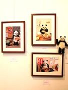 新世界でパンダ作家・大西亜由美さんの個展「ぽかぽかパンダ展」