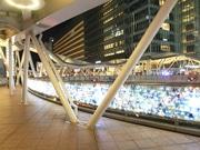 阿倍野歩道橋でイルミネーション 地元町会、商業施設が連携