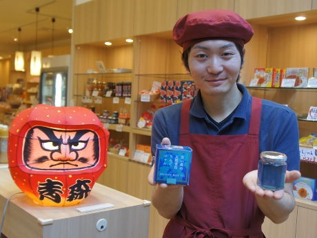 赤坂の青森アンテナショップで「青いリンゴジャム」販売へ 「青いハーブティー」も