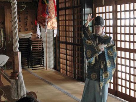 秋田の神社で節分祭 「福は内」2度繰り返し招福