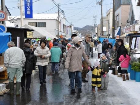 五城目町の通称「朝市通り」 - 秋田経済新聞