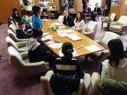 尼崎の小学生が市長に意見文提出 「小さな輪から、尼崎の良さ伝えたい」