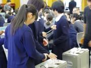 尼崎の高校で「模擬選挙」 学生団体が若い世代へ選挙をPR