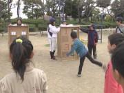 尼崎市の公園で「スプリングフェスタ」 女子大軟式野球部による招待試合も