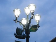 船橋駅前商店会が街路灯をLEDに一新 耐久性向上・災害用無線完備も