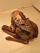 銀座で立体造形アーティスト2人展 動物モチーフの作品51点