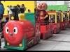福岡アンパンマンこどもミュージアムに「SLマン」 ロードトレイン運行開始、出発式も