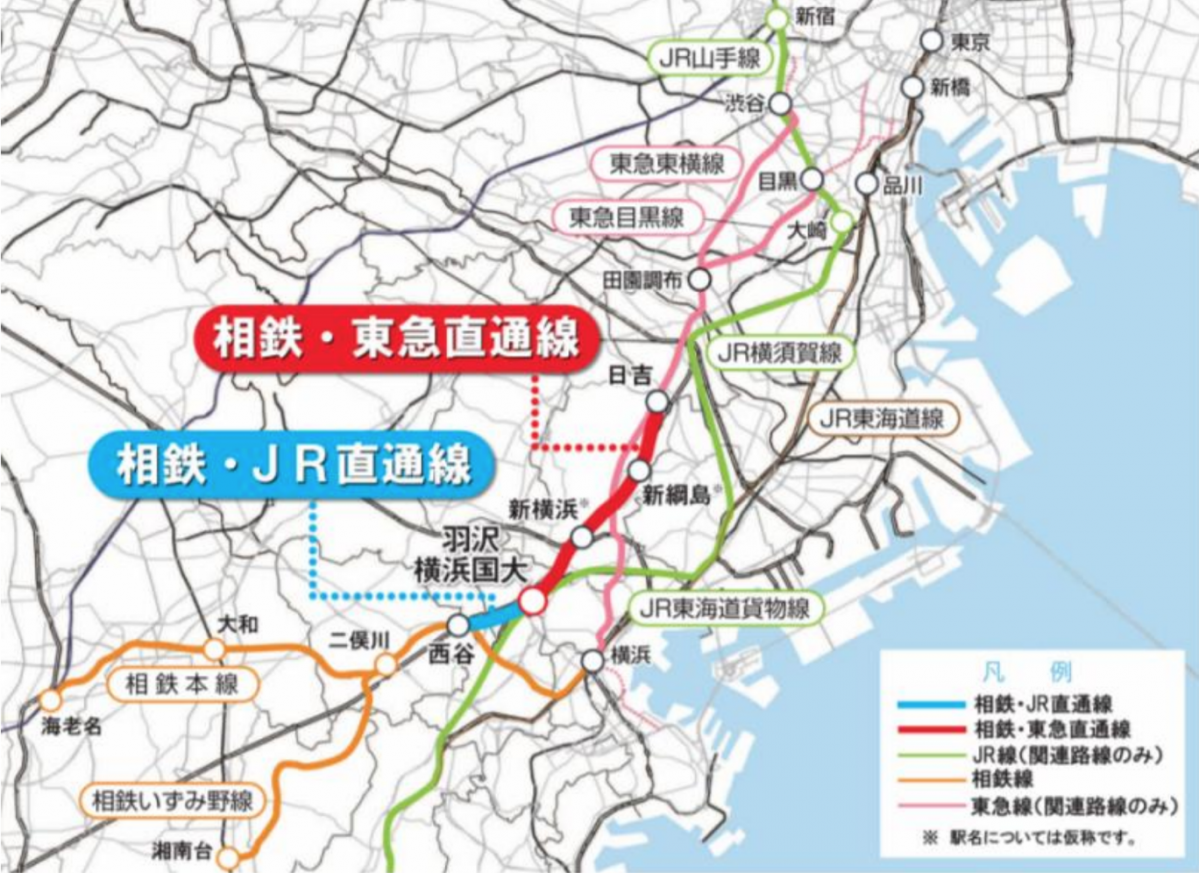 新幹線 路線図 関東