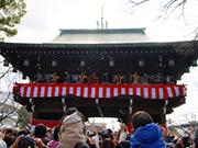 石切劔箭神社で節分祭・豆まき神事 福求める参拝者でにぎわう