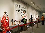 東大阪市庁舎市民ギャラリーで文楽人形展 市内の工房で制作された30点展示