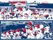 「カープ×動物園」がコラボ手ぬぐい-広島フラワーフェスに合わせて