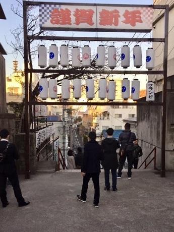 四ツ谷・須賀神社の初詣客増加 階段デザインの絵馬も人気に