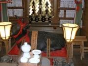 伊勢神宮外宮勾玉池のほとりにある「あこねさん」の「牛天神」は学業の神様