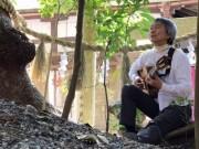 ギター奏者の成川正憲さん奉納演奏 伊勢神宮外宮勾玉池のほとりのあこねさんで
