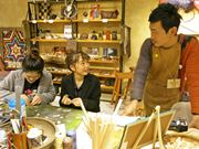 京都で京北の暮らし発信するクラフト展 鹿角ワークショップや移住相談も