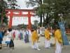 上賀茂神社で「葵使」が出発 フタバアオイを徳川家に届ける行事を再現