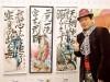 葛飾・亀有で平松伸二さん「漫書展」 漫画と書を融合したアート作品展示