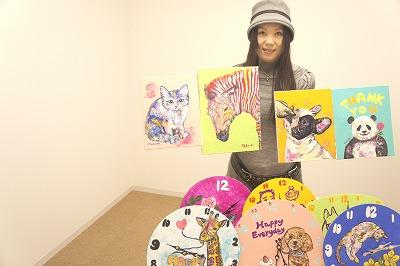 川越在住アーティスト・キリオカマキさん、地元コンサートのロビーアート担当