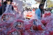 川越・喜多院で「だるま市」 露天50店が並ぶ