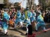 県指定文化財「南大塚の餅つき踊り」 西福寺で踊りながら餅をつく祝福行事
