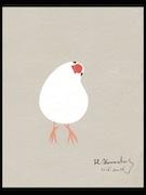 仲町台のギャラリーで山田博之さん個展 切り絵のような手描きイラスト展示