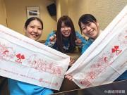 小倉で「焼きうどん」手拭い 焼きうどん食べて震災復興支援