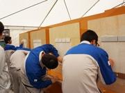 竹中工務店東京本店で「技能体験会」 建築業界の魅力伝える