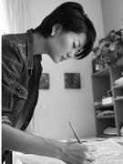清澄白河で女性画家・野村佳代さん個展 人間の「光と影」を表現