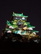 大阪城天守閣の「3Dマッピング」公開-今月14日から開催