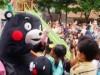 大阪・蒲生に「くまモン」登場 被災地支援イベントに駆け付ける