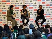開幕控え、松本山雅がキックオフイベント 「J1復帰」誓う