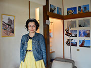 松本のカフェで鉄塔写真展 「鉄塔も風景の一部」、魅力写し出す