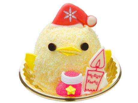 名駅構内のカフェに「サンタぴよりん」 3つ載せたクリスマスケーキも