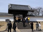 水戸弘道館の開かずの正門開く-開館170周年記念で特別開放