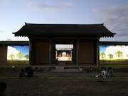 岩手大が城壁使ってCGメディアショー-古代の蝦夷をリアル投影