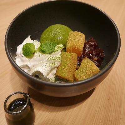 難波駅のカフェが「つぼ市製茶」とのコラボメニュー 小倉みつ豆が好評
