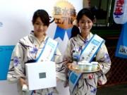 東京駅で「ぐったリーマン救出プロジェクト」-かき氷と電解水素水配付