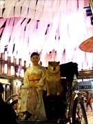 「日本橋に春が来た」、全国の桜集め恒例の桜フェス 柴犬まるも人力車で応援