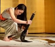 真鶴で「川尾朋子さんと書に触れる2日間」 ライブパフォーマンスも