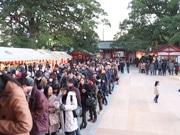 大分の春日神社で新年行事 初詣客30万人超の勢いも
