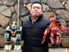 岡山・西川緑道公園に手作りロボット100体 イルミネーションにきらめき添える