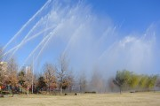大宮で「さいたま市消防出初め式」 一斉放水に市民の歓声