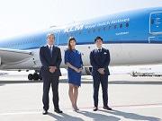 関空でKLMオランダ航空「B787-9」就航記念セレモニー