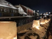 「小樽雪あかりの路」開幕 ボランティアや市民らが「あかり」ともす