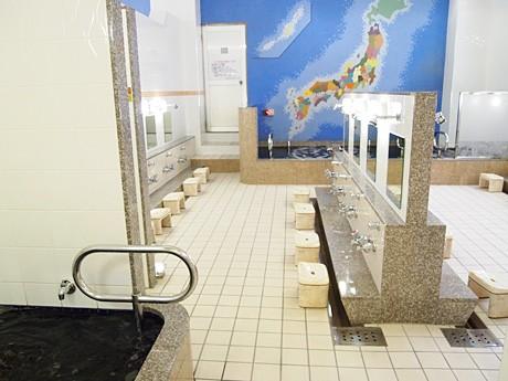 麻布十番「黒美水温泉」がリニューアル-湯船を2つに分け温度差