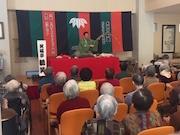 高齢者に笑いと話題を 佐賀の介護施設でボランティア落語会