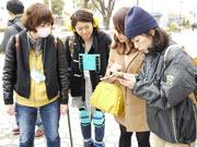 栄で若者向けの防災授業、アプリを使った避難訓練を開催