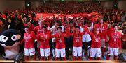 名古屋グランパスが新体制発表会 「5人目まで連動するサッカー」目指す