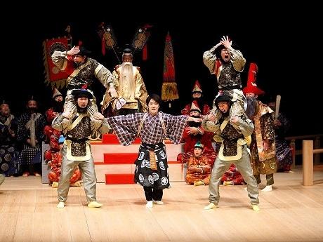 三軒茶屋で野村萬斎さん出演の狂言 世田谷パブリックシアター20周年を記念して