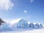 石狩・当別に氷と雪で作られたホテル出現 冬の楽しみ方提案